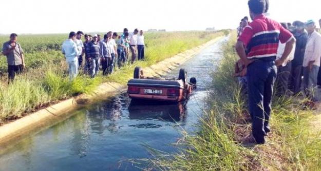 Kanala uçan otomobilde can verdi!