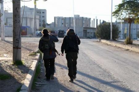 Kobani'de YPG'liler böyle görüntülendi