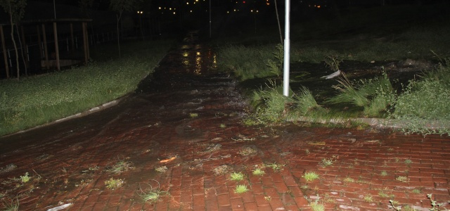 Mahalleyi lağım suları bastı
