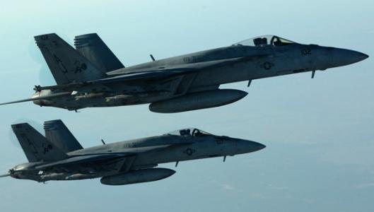 Savaş uçakları Telabyad'ı bombaladı