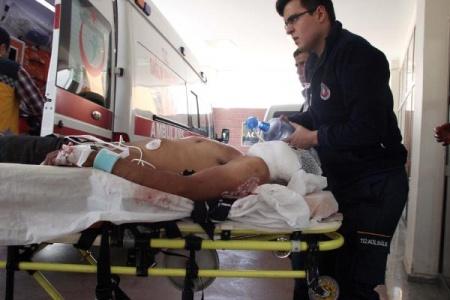 Sınırı geçmek isterken yaralı yakalandı