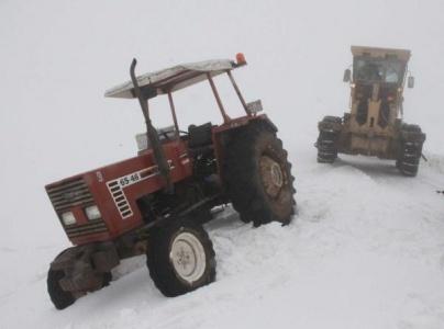 Siverek'te araçlar yolda kaldı