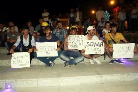 'Soma' için sessiz eylem
