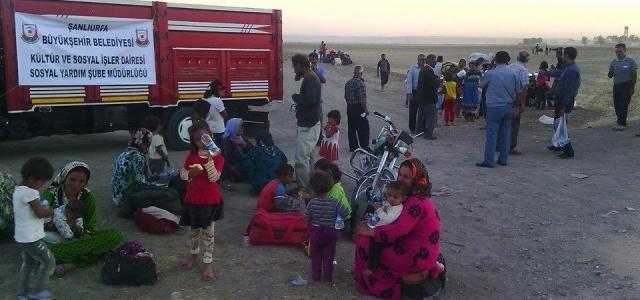 Suriye'den gelen mültecilere yardım eli
