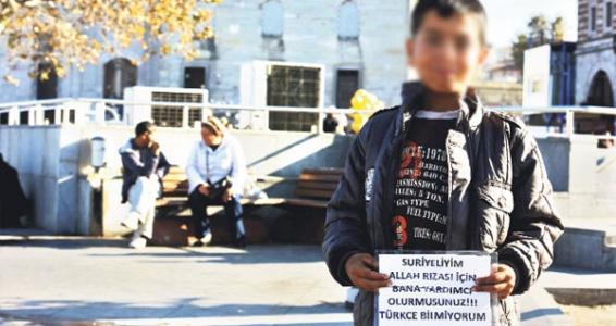 Suriyeli dilenciler toplanıyor