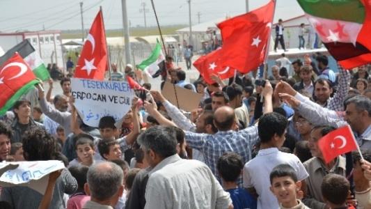 Suriyelilerden teşekkür mitingi