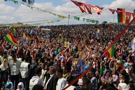 Suruç'tan Newroz ateşi yükseldi