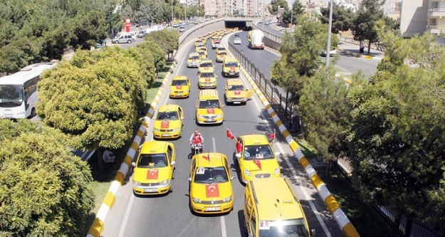 Taksicilerden terör tepkisi!