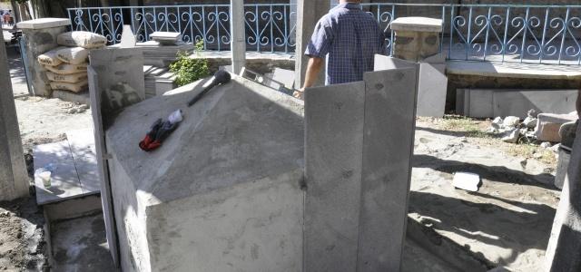 Tarihi Hacıpınar çeşmesi restorasyonu çalışması başladı