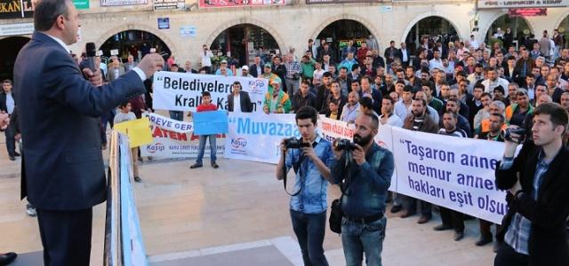 Taşeron İşçiler Urfa'da Kadro İstedi