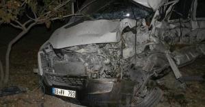 Baraj yolunda feci kaza