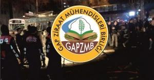 GAP Ziraat Mühendisleri Birliğinden kınama