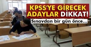 KPSS'ye girecek adaylara uyarılar