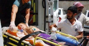 Sulama kanalına düşen bebek kurtarıldı