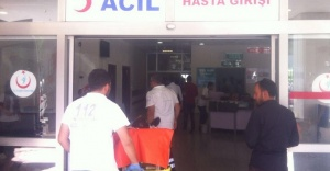 Akıma kapılan işçi ağır yaralandı