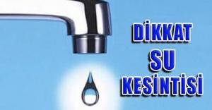 Urfa''da 2 gün sular kesilecek