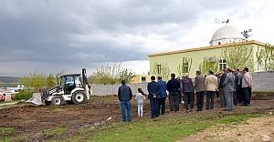 Akçaören Mahalle Taziye Evinin Temel Çalışmalarına Başlandı