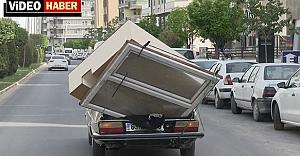 Urfa'da tehlikeli yolculuk...