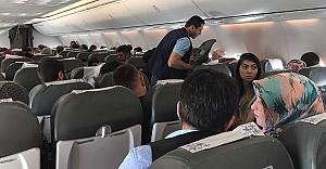 Ankara Şanlıurfa uçağında korku dolu anlar