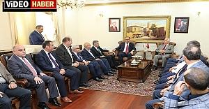Başkanlar Vali Tuna'yı ziyaret etti