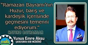 Aksu'dan Bayram mesajı...