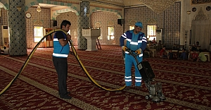 Eyyübiye Belediyesi temizlik çalışmasını...