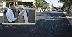 Belediye Başkanı Yılmaz asfalt çalışmalarını inceledi