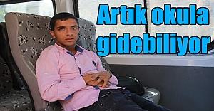 Bedensel Engelli Mustafa artık okula gidiyor