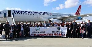 Bozova'dan 180 öğrenci İstanbul'a yolculandı