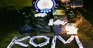 55 bin paket kaçak sigara ele geçirildi