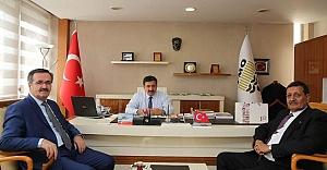 İki Başkandan Akay'a ziyaret...