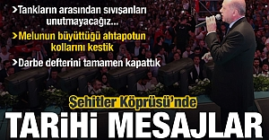 15 Temmuz Zaferinin 2. Yılında Erdoğan'dan flaş açıklamalar