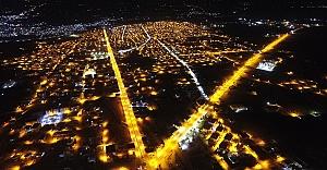 Ceylanpınar aydınlatma sistemi ile ışıl ışıl