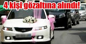 Viranşehir'de düğün konvoyu durduruldu!