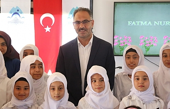 Başkan Kuş minik öğrencileri ödüllendirdi...