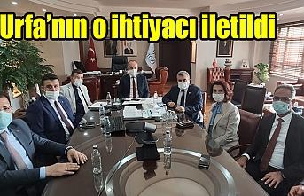 Urfa heyeti, TOKİ Başkanı ile görüştü