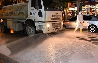 Siverek'te sokaklar köpüklü suyla yıkanıyor