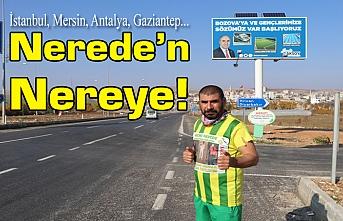 Maraton koşucusu soluğu Bozova'da aldı