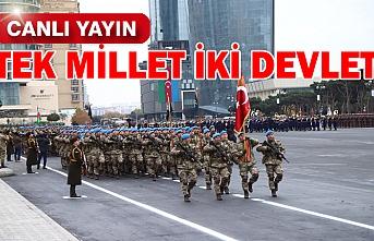 Azerbaycan'da tarihi tören başladı...