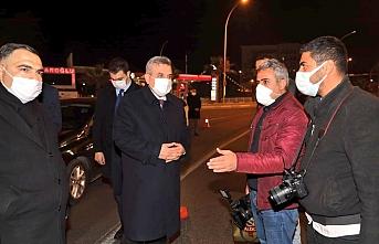Beyazgül gazetecilerle karşılaştı