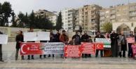 Bu sefer Suriyeliler eylem yaptı