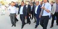 Eyyüpoğlu ve Güvenç Şantiye'de oy istediler