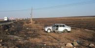 Hilvan'da Otomobil Tarlaya Uçtu: 4 Yaralı