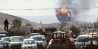 Kobani'de bombalar böyle patladı