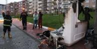 Kulübeyi yaktılar