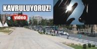 Urfa'da güneş kavuruyor..