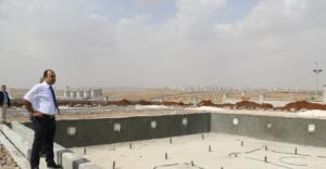 Dev parkın yapımı sürüyor