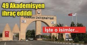 Harran Üniversitesine büyük şok...