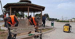 Şehit İbrahim Taş parkı bahara hazırlandı