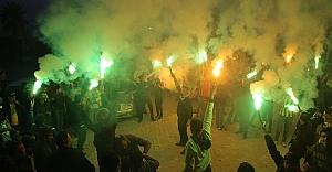 Urfaspor'a meşaleli destek...
